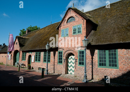 Thatched museum in village of Sankt Peter Ording, Eiderstedt peninsula, Schleswig-Holstein, north Germany - Stock Photo