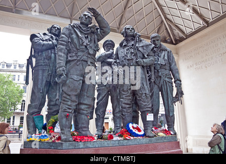 London, Green Park  The Bomber Command memorial July 2012 - Stock Photo