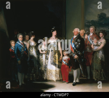 Francisco de Goya (1746-1828). Spanish romantic painter. Charles IV of Spain and His Family. Oil on canvas, 1800. - Stock Photo