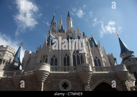 Cinderella Castle at Disney world May 2012 - Stock Photo