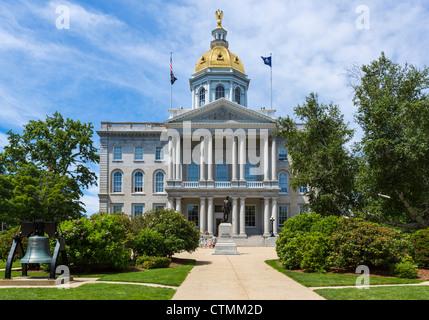 New Hampshire State House, Main Street, Concord, New Hampshire, USA - Stock Photo