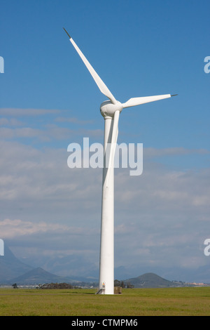 A large wind turbine to generate electricity at their Klipheuwel Wind Energy Facility, Western Cape Province, South - Stock Photo