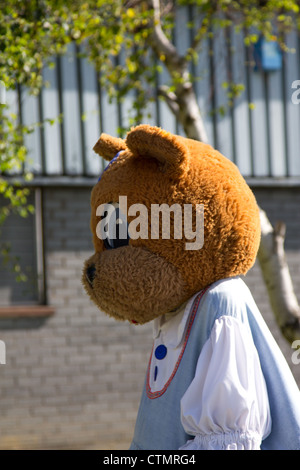 ... Miss Honey Bear Mascot At Halo Foods Ice Cream And Sweet Factory,  Tywyn, North