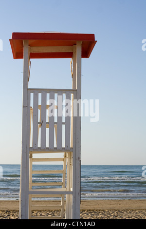 Rescue tower in a beach - Stock Photo