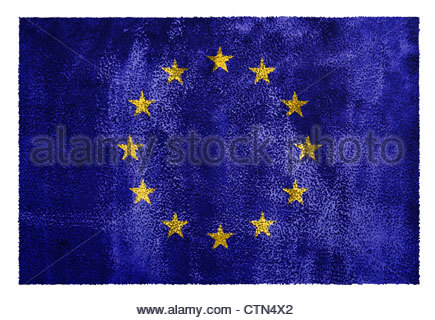 European Union Flag - Stock Photo
