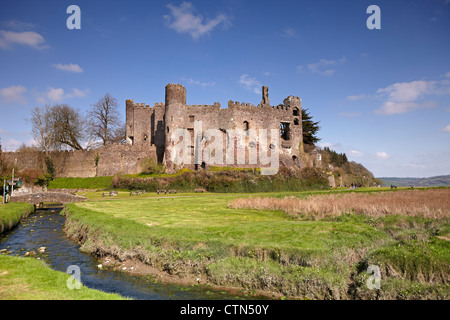 Laugharne Castle, Carmarthenshire, Wales, UK - Stock Photo