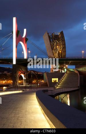 Abandoibarra, Bilbao, Bizkaia, Basque Country, Spain - Stock Photo