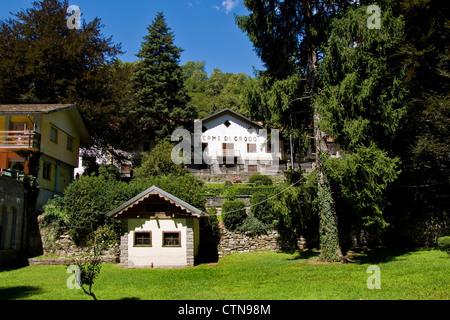 Italy, Piedmont, Crodo thermae - Stock Photo