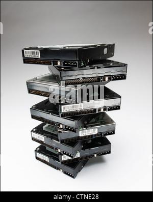 Computer hard drives - Stock Photo