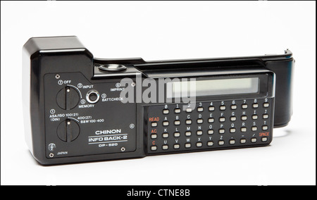 Chinon film camera info back-2 DP 520 for imprinting data on film - Stock Photo