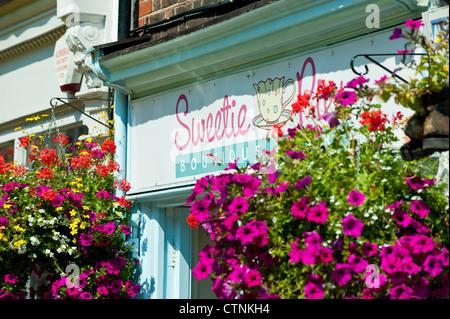 Pretty decoration on pub, Church Street, Twickenham, London, United Kingdom - Stock Photo