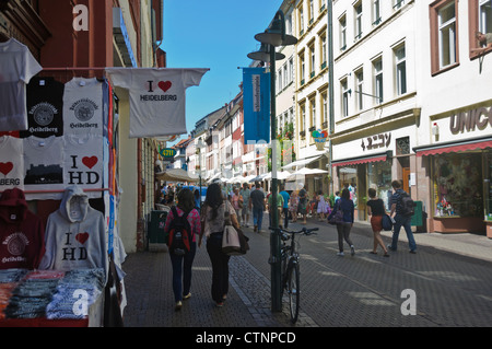 the hauptstrasse main street old town heidelberg germany stock photo 50218084 alamy. Black Bedroom Furniture Sets. Home Design Ideas