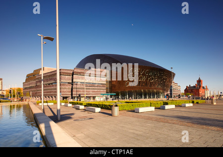 Wales Millennium Centre, Cardiff Bay, Cardiff, Wales, UK - Stock Photo