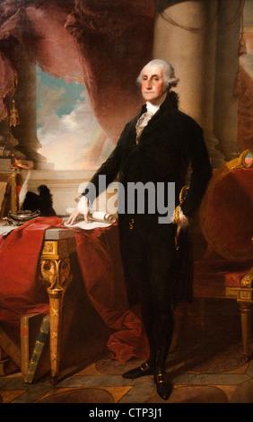 President George Washington 1800 Gilbert Stuart American United States of America - Stock Photo