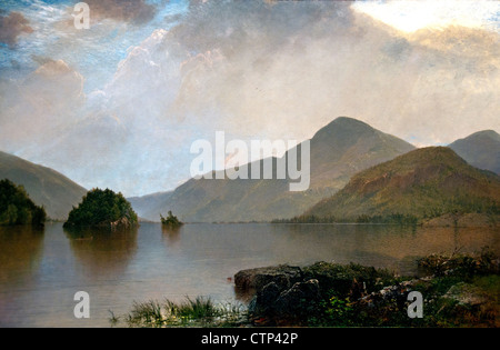 Lake George 1869 John Frederick Kensett American United States of America - Stock Photo