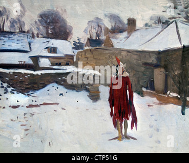 Mannikin in the Snow 1892 John Singer Sargent  American United States of America - Stock Photo