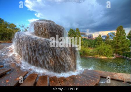 Finlay Park Fountain in Columbia, South Carolina, USA - Stock Photo