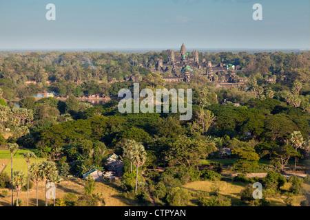 Aerial view of Angkor Wat - Stock Photo