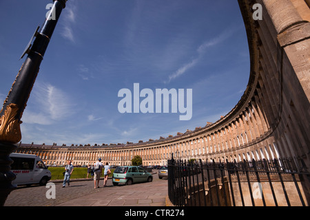 The Royal Crescent, Bath, Somerset, England, UK. - Stock Photo