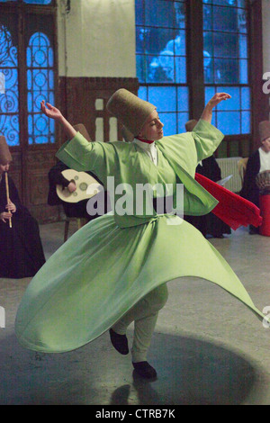 Turkey; Istanbul; whirling dervish, - Stock Photo