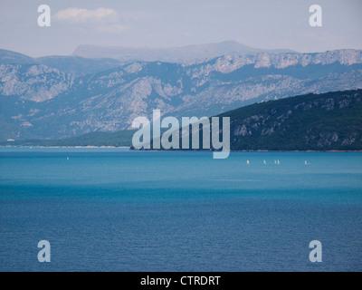 The Lac de Ste Croix located in the Var Departement, Alpes de Haute Provence, southern France - Stock Photo