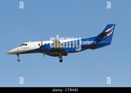 Eastern Airways BAe Jetstream 4102 on final approach - Stock Photo