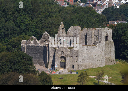 Oystermouth Castle, Mumbles, Swansea, Wales. - Stock Photo