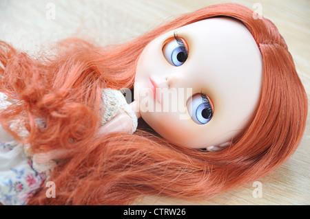 Beautiful art doll - Stock Photo