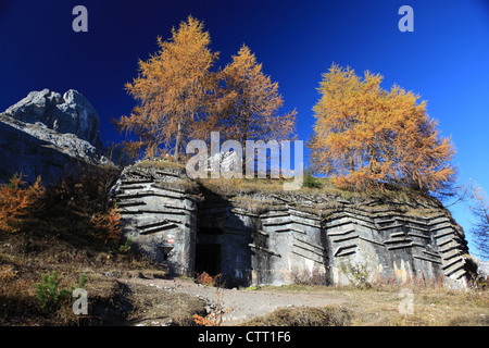 Bunker from the first World War in South Tirol - Stock Photo