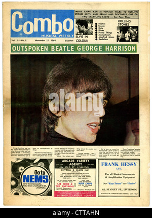000944 - Combo Music Newspaper with George Harrison on the cover from 27th November 1964 - Stock Photo