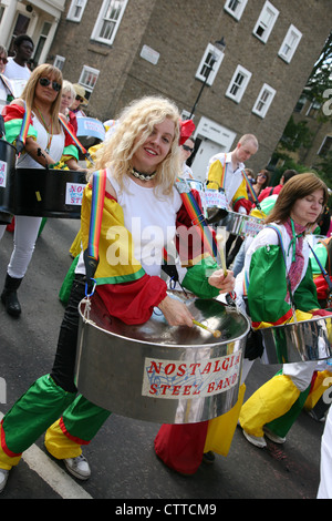 Participant of 2010 Notting Hill Carnival., Europe's largest festival and parade. [Editorial use only] - Stock Photo