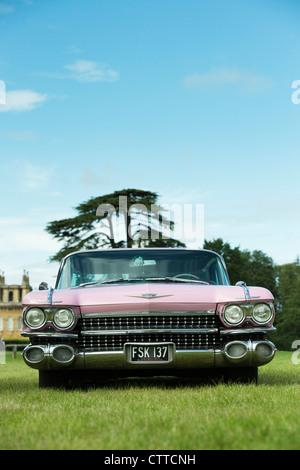 1959 Pink Cadillac. Classic american car - Stock Photo