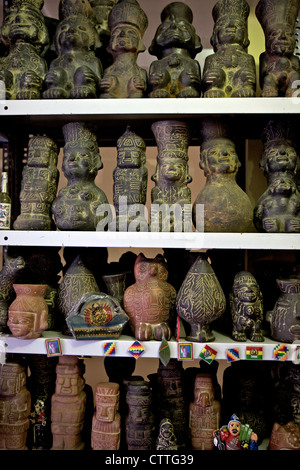 Ceremonial statues for sale in Witches Market , La Paz , Bolivia, South America - Stock Photo