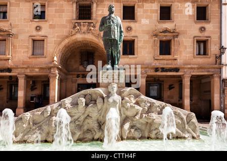 Fountains in Plaza de Andalucia, Úbeda, Jaén, Andalusia, Spain. Europe. - Stock Photo