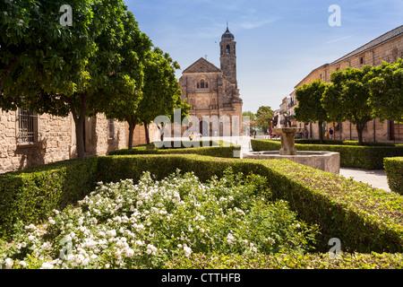 View of La Sacra Capilla del Salvador del Mundo, Úbeda, Jaén, Andalusia, Spain. Europe. - Stock Photo