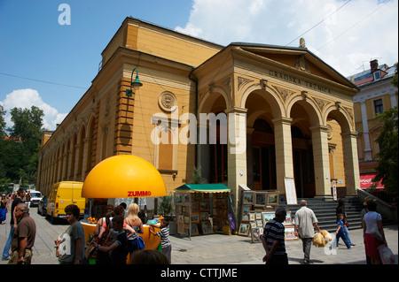 Sarajevo city Bosnia and Herzegovina. Gradska Trznica - market - Stock Photo