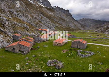 Vegas del Toro (o de Sotres), Picos de Europa National Park, Sotres, Asturias, Spain - Stock Photo