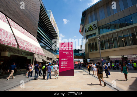 Westfield Stratford City shopping centre, adjacent to the Stratford Olympics arena, East London, England, United - Stock Photo