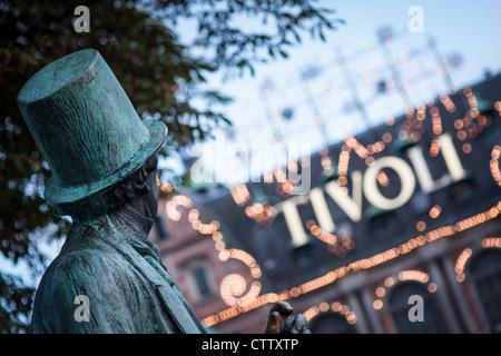 Statue of Hans Christian Anderson in Copenhagen - Stock Photo