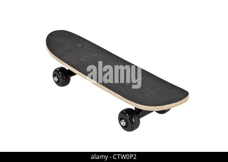 Skateboard isolated on white with clipping path. - Stock Photo
