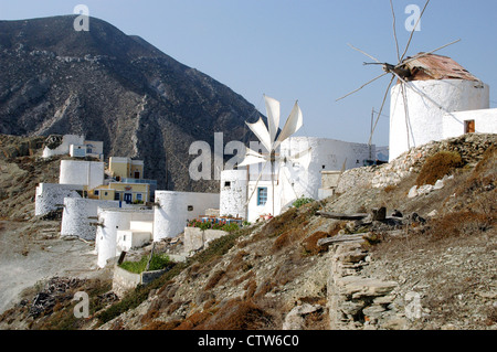 The village of Olympos in the north part of the Greek Island of Karpathos, in the Dodecanese islands of the Aegean. - Stock Photo