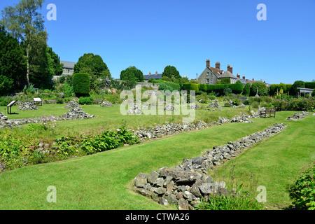 Shaftesbury Abbey Museum & Gardens, Park Walk, Shaftesbury, Dorset, England, United Kingdom - Stock Photo