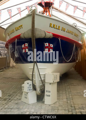Redcar lifeboat Sir James Knott left service 1984 now in Kirkleatham Old Hall Museum Redcar Cleveland UK - Stock Photo