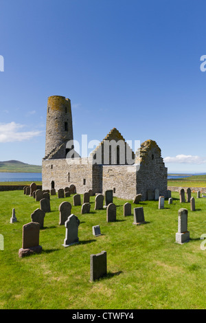 Orkney Islands, Egilsay, St Magnus Kirk - Stock Photo