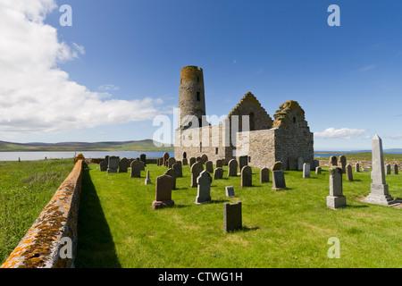 Orkney Islands, Egilsay, St Magnus Kirk - Stock Photo