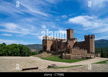 The Castle of Javier in Navarre, Spain - Stock Photo