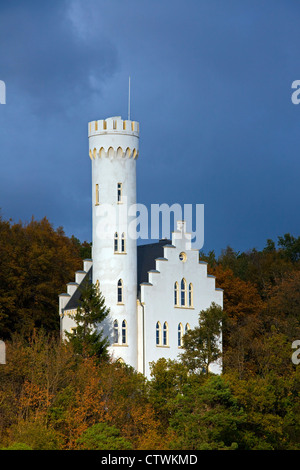 Lietzow Castle / Schlösschen Lichtenstein in autumn, Rügen island, Mecklenburg-Vorpommern, Germany - Stock Photo