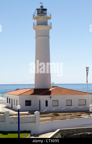 The lighthouse on the Playa Ferrara Torrox Spain - Stock Photo
