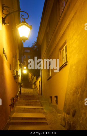 Warsaw Old Town, Kamienne Schodki Street, Poland, Unesco - Stock Photo