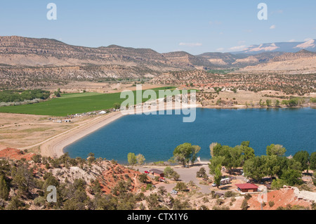 USA Utah,  view at Escalante in Petrified Forest state park. - Stock Photo